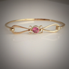 The Molly Ockett: Maine Pink Tourmaline Tension Bangle