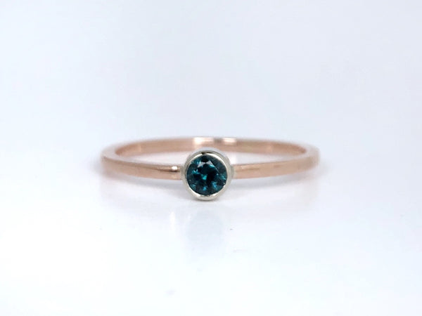 Bradley Pond Blue Maine Tourmaline Rose Gold Ring