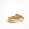 Triple: 14k Tri-Color Ring, Sizes 8-11