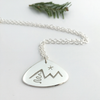 Night Skiing: Sterling Silver Pendant