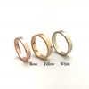 Classic Matte: Simple and Elegant, 14k Narrow Band, Sizes 4.5-7.5