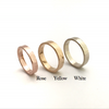 River with Rocky Beaches: Stackable 14k Set of Three Rings, Sizes 4.5-7.5.