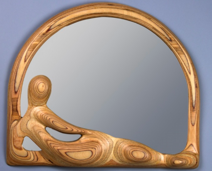 Odalisque Mirror by Plywood Sculpture