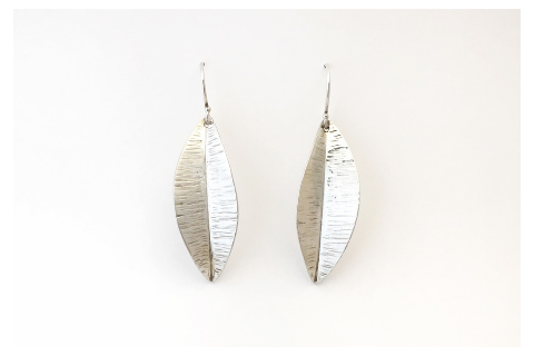 Feather: Sterling Silver Earrings Large