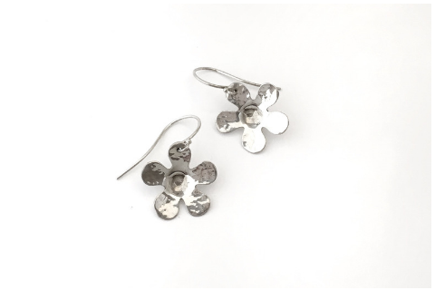 Daisy Dangles: Sterling Silver Earrings