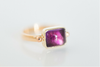 SOLD Royal Purple:  Maine Amethyst Yellow Gold Ring