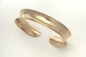 Channel: Gold Anticlastic Bracelet Wide