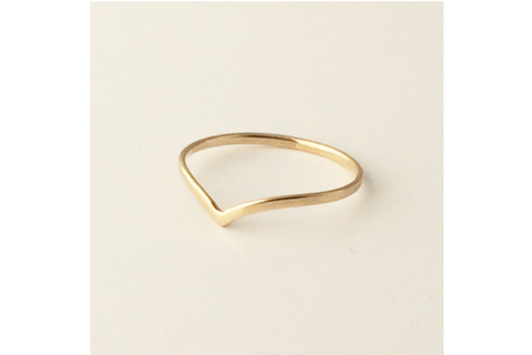 Chevron Mid Ring: Medium