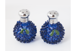 Blackberry Glass Salt & Pepper Shaker Set by Glass Act