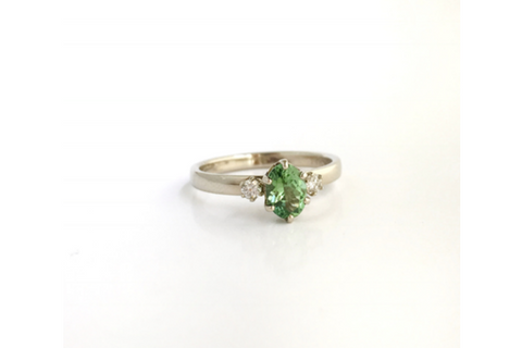 Frenchman's: Maine Tourmaline and Diamond Ring