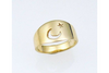 Luna: Moon and Star Cut-Out Ring Size 4.5-7.5