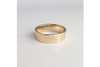 Perfectly Puddled: 14k Wide Textured Band, Sizes 4.5-7.5