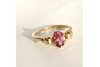 Pink Promises: Maine Raspberry Pink Tourmaline Yellow Gold Ring