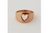 Queen of Hearts: Heart Shaped Cut-Out Ring Size 4.5-7.5