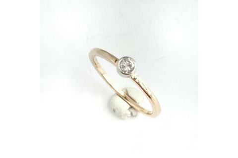 Spark: Diamond Stacking Ring in 14k Yellow Gold