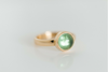 Spring Green: Tourmaline Ring Bezel Set in 14k Green, White and Yellow Gold