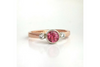 Strawberry Shortcake: Maine Pink Tourmaline & Diamond Rose Gold Ring