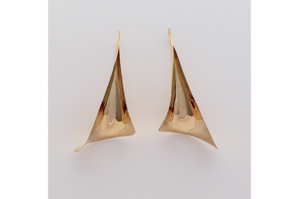 Calla Earrings in 14k Yellow Gold