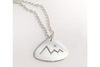 Mountains and Star: Sterling Silver Pendant