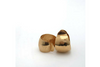 Small Domed Gold Hoop Earring