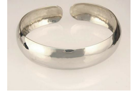 Perfectly Puddled White Gold Bracelet 15mm