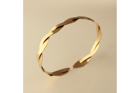 Interlace Gold Bracelet Narrow