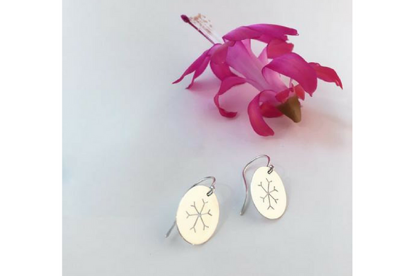 Snowflake: Sterling Silver Earrings