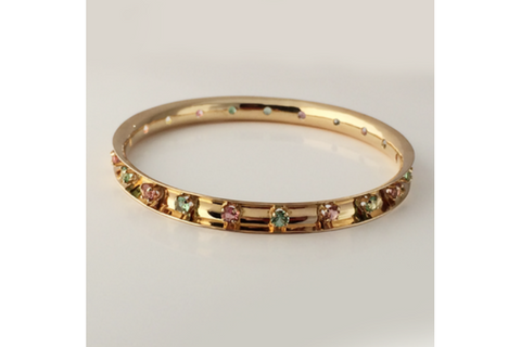set in champagne bangle img products hammered bracelet solid diamond gold bangles bracelets large