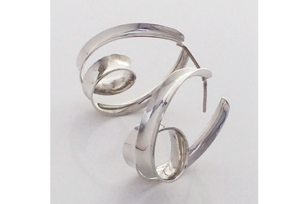 Loop-d-loop: Sterling Silver Anticlastic Earrings