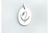 Lady Slipper: Sterling Silver Pendant