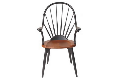 CHERRY & MAPLE SUNBURST CHAIR by WA Mitchell Fine Furniture