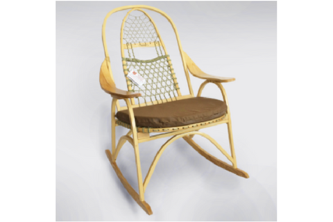 Extra Tall Backed Snowshoe Rocking Chair by Maine Guide Snowshoes