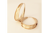 Tapered 14k Yellow Gold Anti Classic Self-Locking Hoop