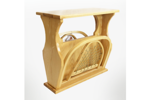 Snowshoe End Table and Magazine Holder By Maine Guide Snowshoes Furniture and Co.