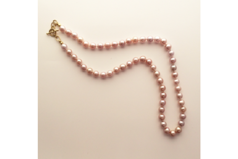 Cherry Blossom Pink Pearl Necklace