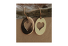 Sweet Heart Cut Out Earrings in 14k Yellow Gold