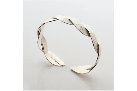 White Mountain: Interlace Bracelet Sterling Silver