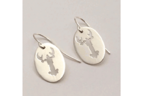 Maine Lobster: Sterling Silver Earrings