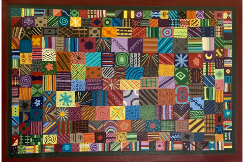 Quilted Floormat by Sandra Smith
