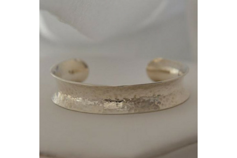 Perfectly Puddled Channel: Sterling Silver Anticlastic Bracelet Medium