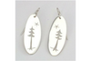 Pine Tree and Star: Sterling Silver Earrings