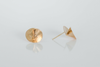 Textured Curl 14k Yellow Gold Post Earrings