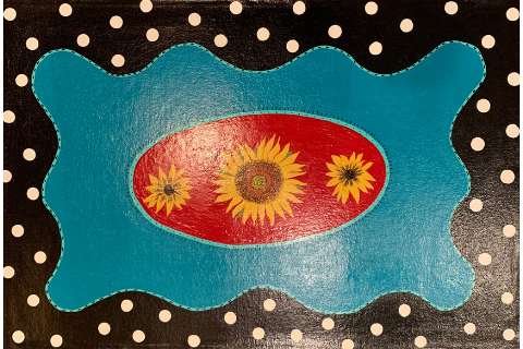 Sunflowers Floormat by Sandra Smith