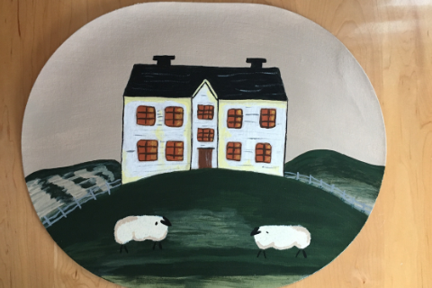 Sheep at Estate Placemat by Sandra Smith