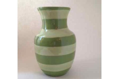Green Striped Lacey Pots Pottery