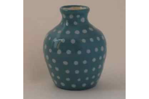 Blue Polka Dot Mini Vase By Lacey Pots Pottery