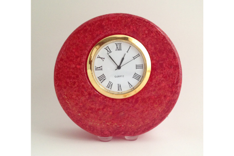 Red Smyers Glass Clock