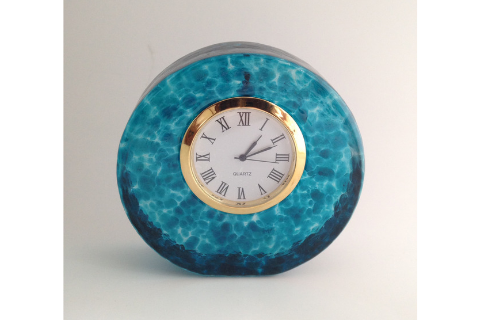 Blue Smyers Glass Clock