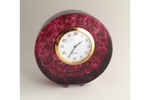 Purple Smyers Glass Clock