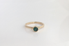 Midnight Blue: Maine Blue/Green Tourmaline Yellow Gold Ring